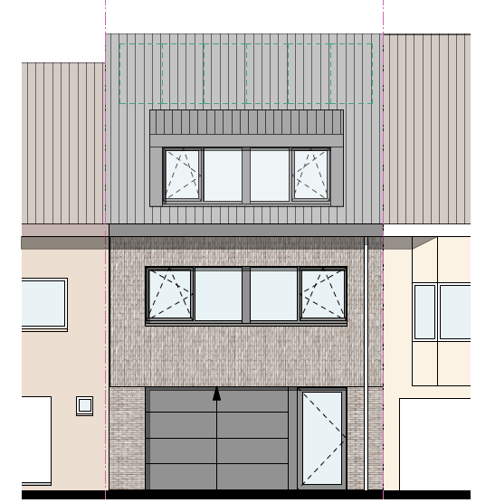 New-build row house with 6 bedrooms